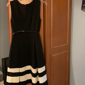 Calvin Klein Dresses - Size 8 Back & White Dress.Gently Used.